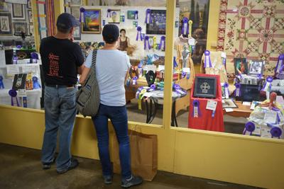 People looking at exhibit
