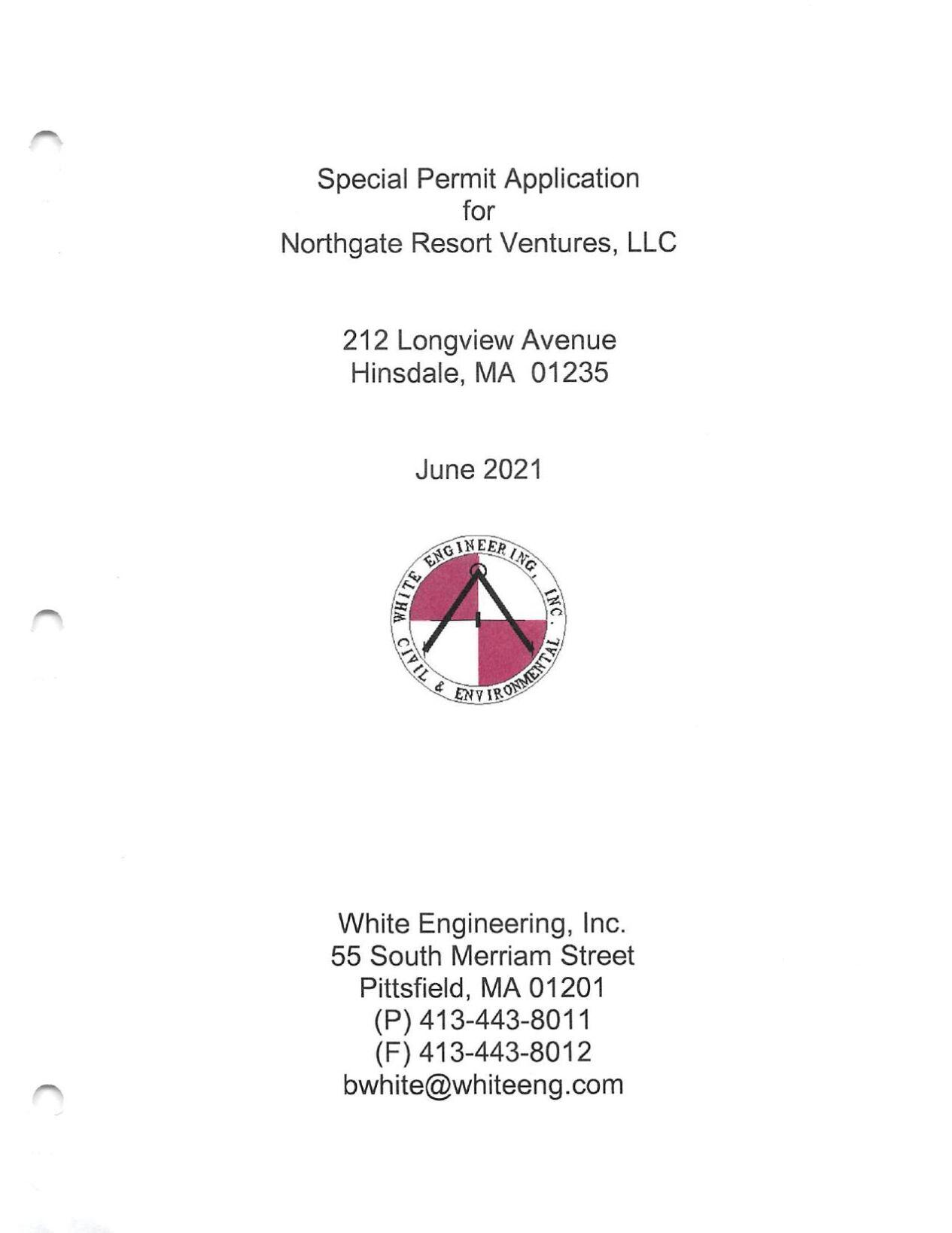 Northgate Resort Ventures LLC application