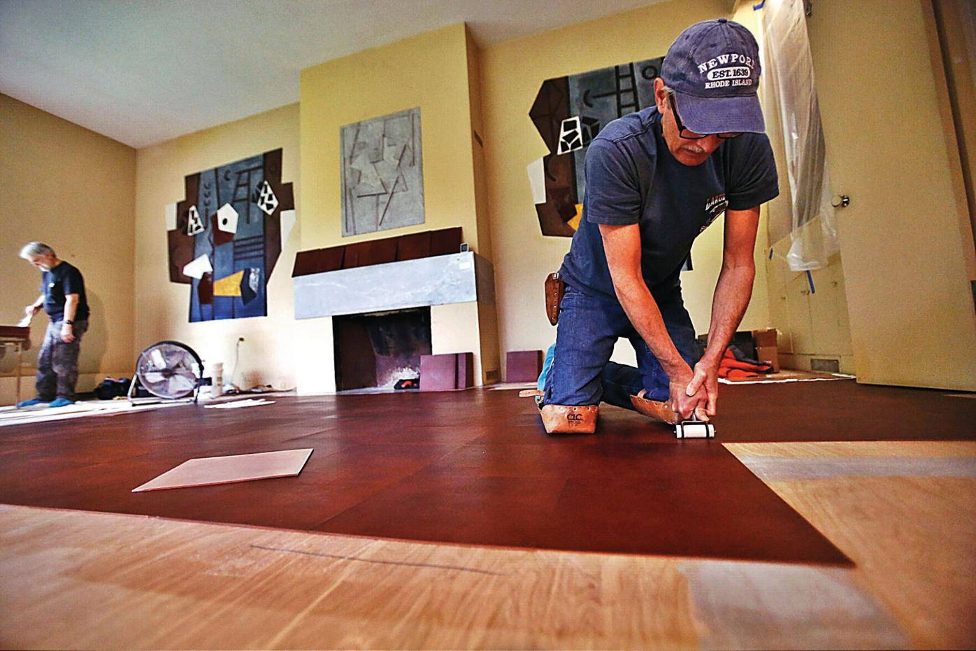 Frelinghuysen Morris House and Studio: 'Replacing a leather floor isn't easy'