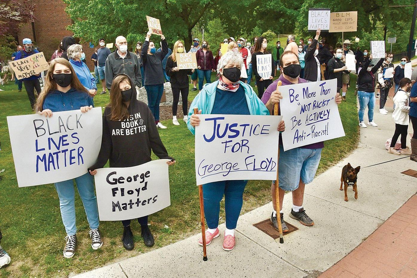 'Make the change': Hundreds protest in the Berkshires over death of George Floyd