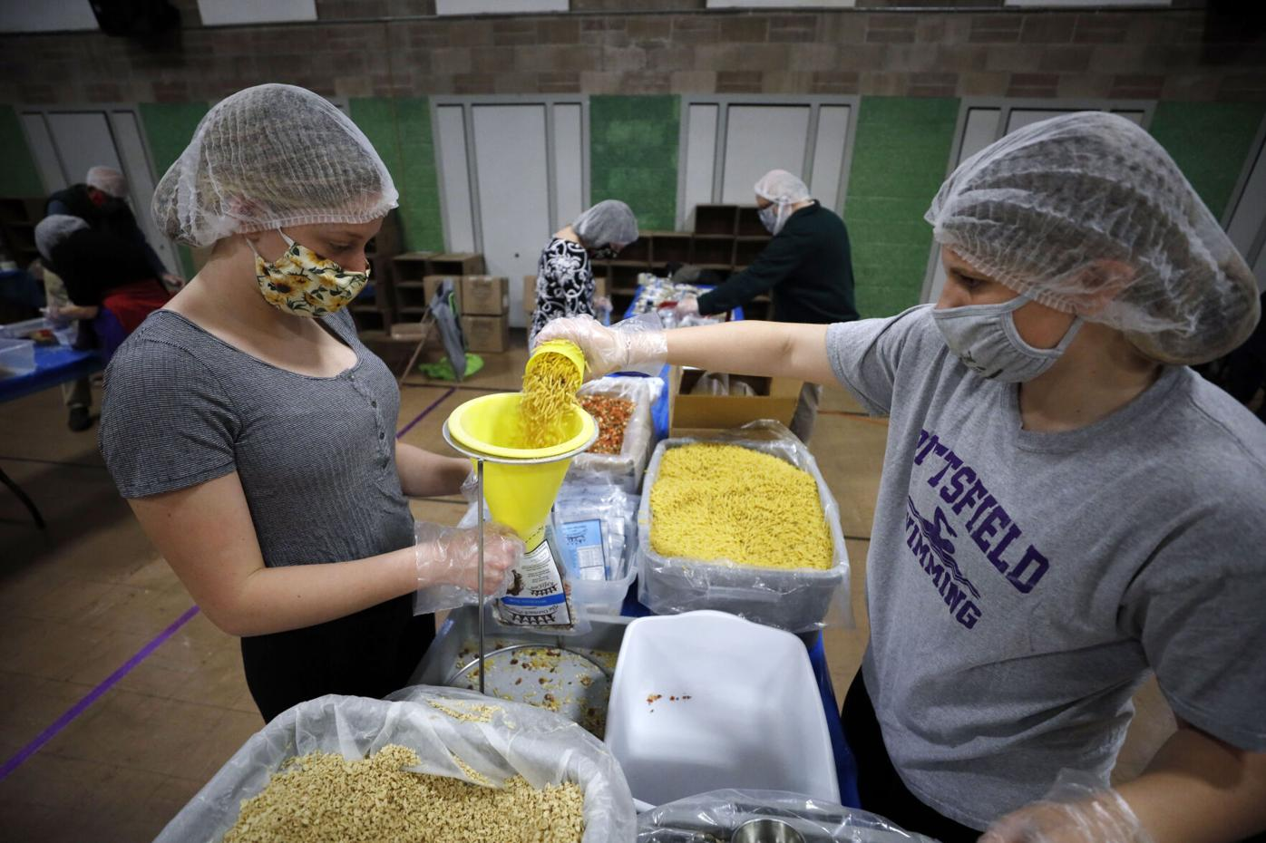 United Way Food Packing