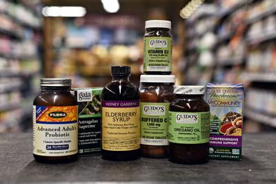 vitamin and mineral supplements on display at Guido's Fresh Marketplace