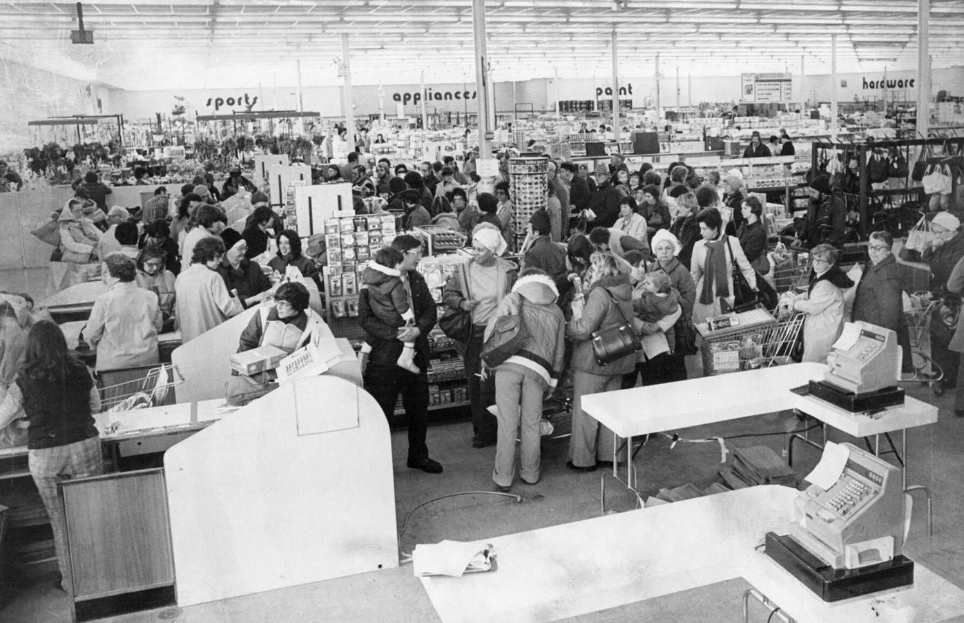 Shoppers in store
