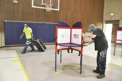 Polling places expect low turnout and many mail-in ballots