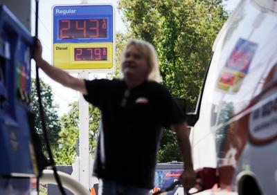 Man pumps gas
