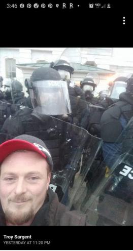 Troy Sargent selfie at Capitol
