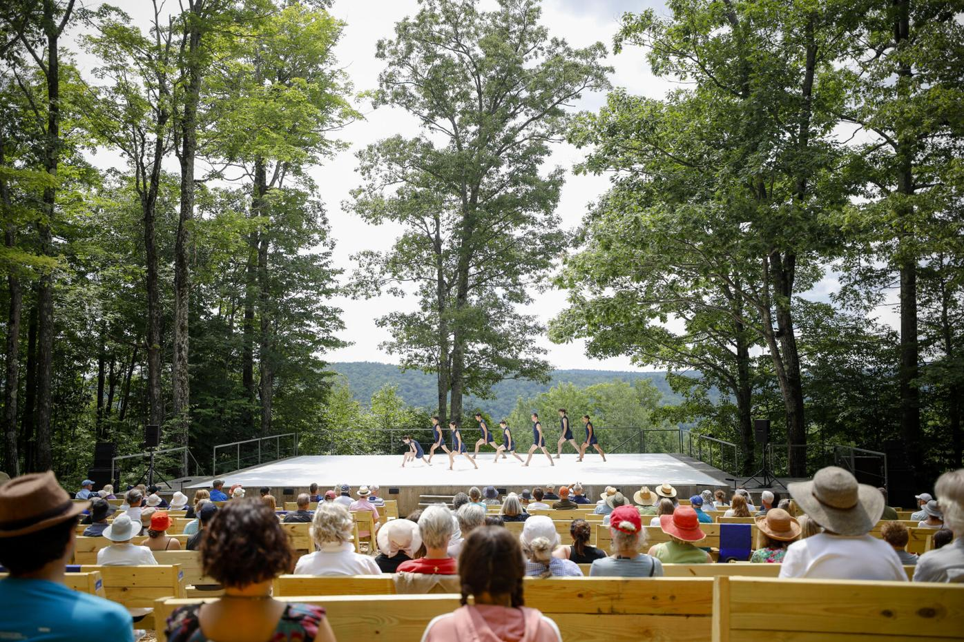 Dancers perform at outdoor stage