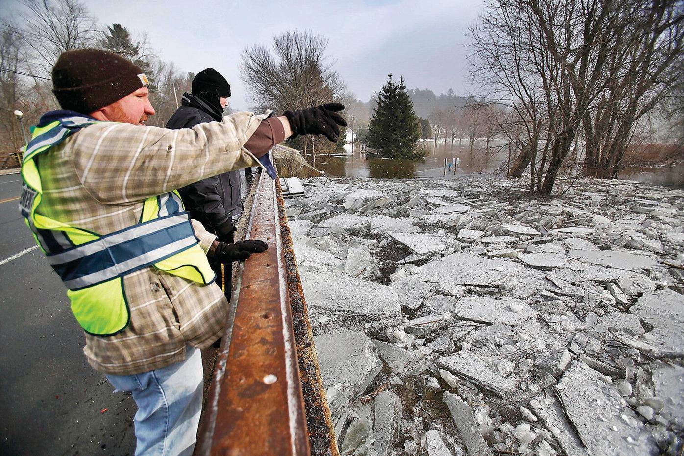 Ice jam prompts emergency declaration, flood prep in Stockbridge