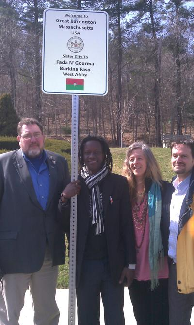 Resident of Great Barrington's West African sister city visits for ceremony