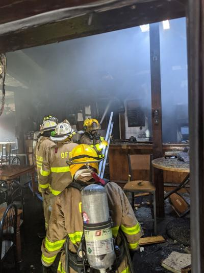 Fire at MJ Tuckers in Sandisfield