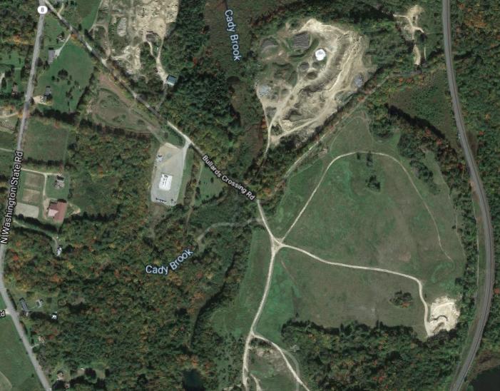 Satellite shot Bullards Crossing cannabis project