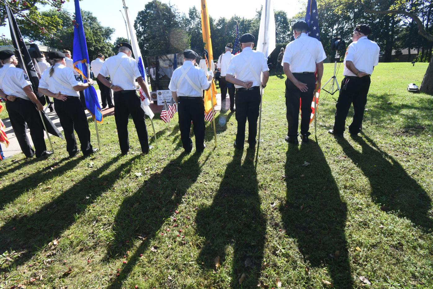 Shadows of the color guard