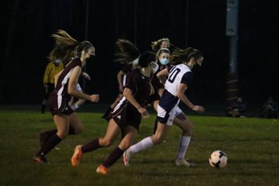 Mount Everett and lenox play girls soccer