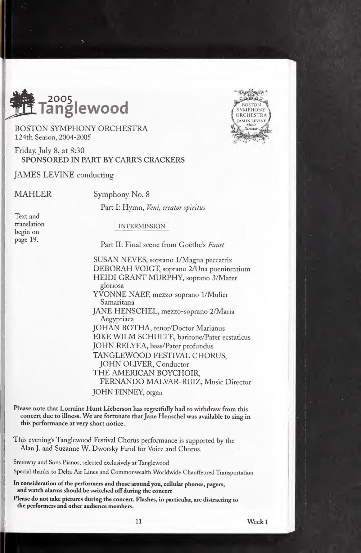 Tanglewood debut