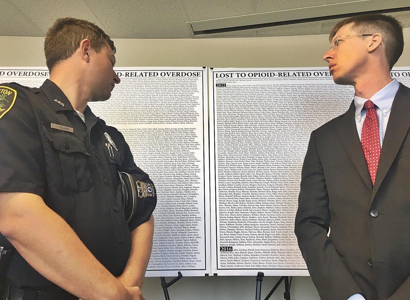 Healey sues opioid-maker, executives, citing 'deceptive scheme'