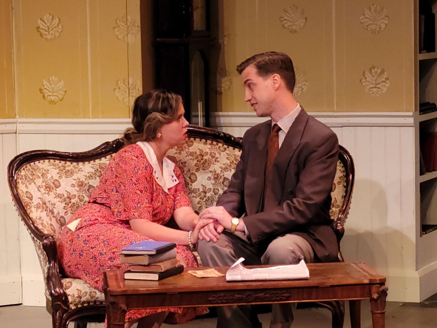 Sasha Conley, as Enid Bradshaw, and Stephen Heskett, as Dick Lane