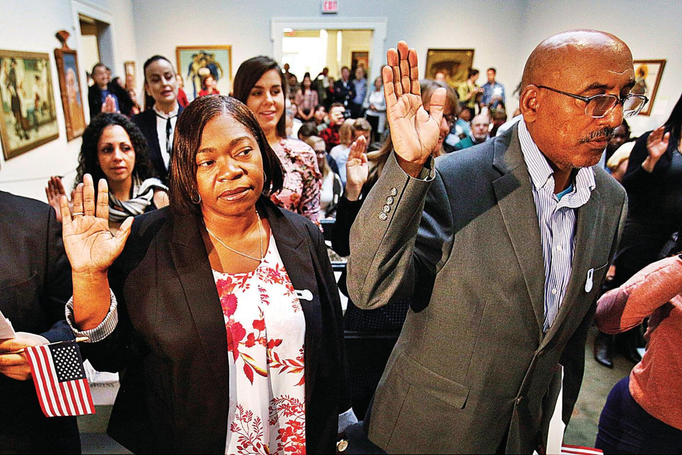 America grows stronger with 21 new citizens: 'We are more alike than we are different'