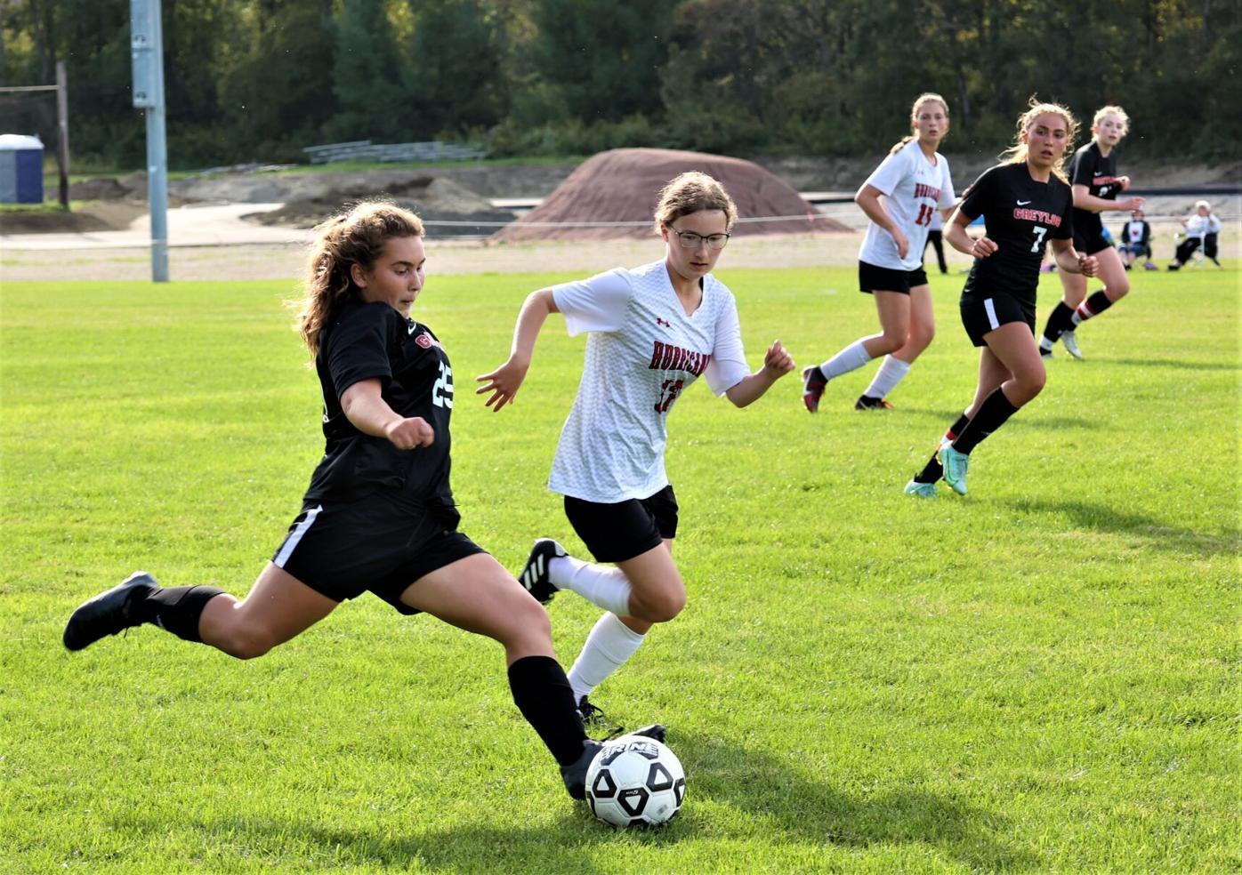 belen galvez kicks the ball