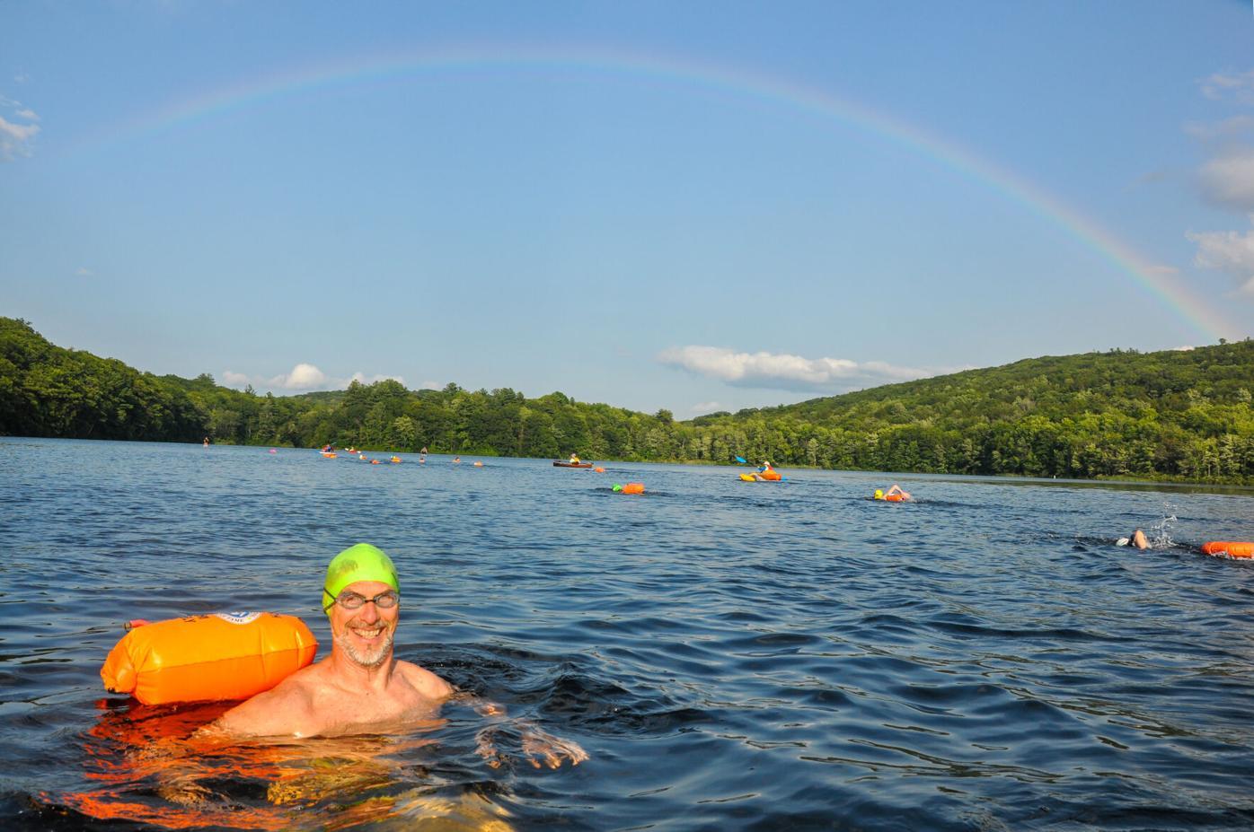 Swimmer Bill Meier in Goose Pond
