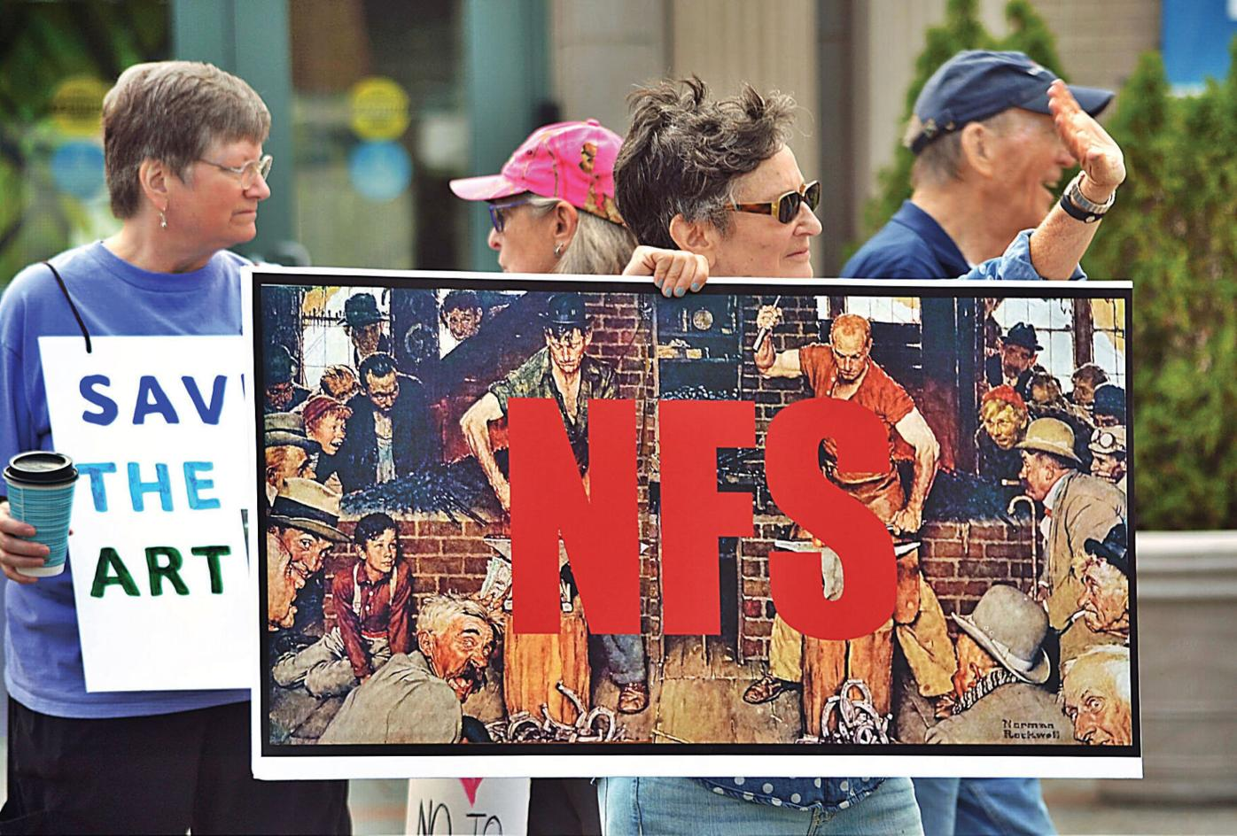 Protesters to Berkshire Museum: Art is 'Not For Sale'