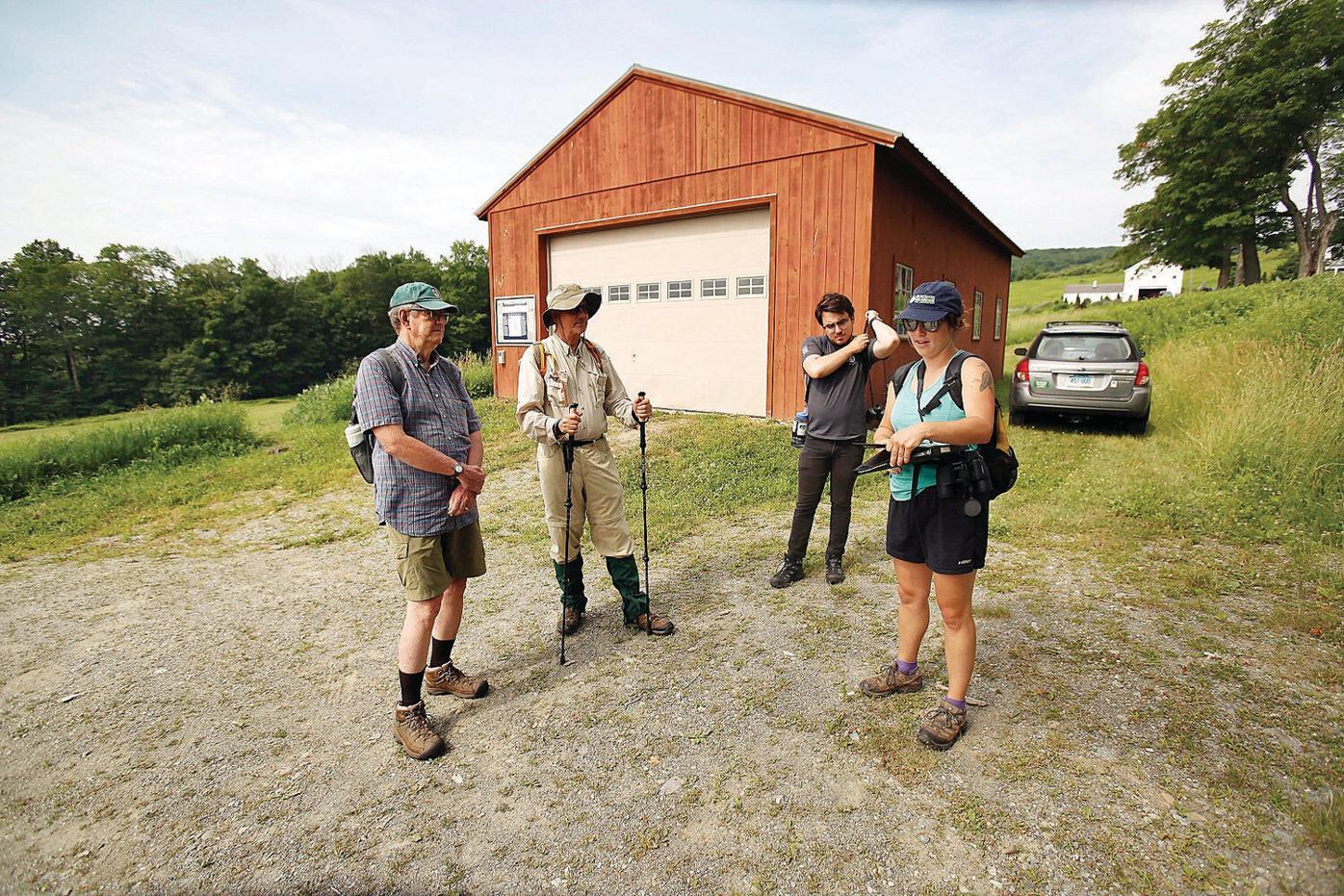 Hollow Fields hikers