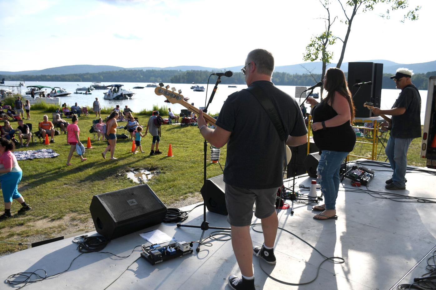 Band performs at Onota Lake