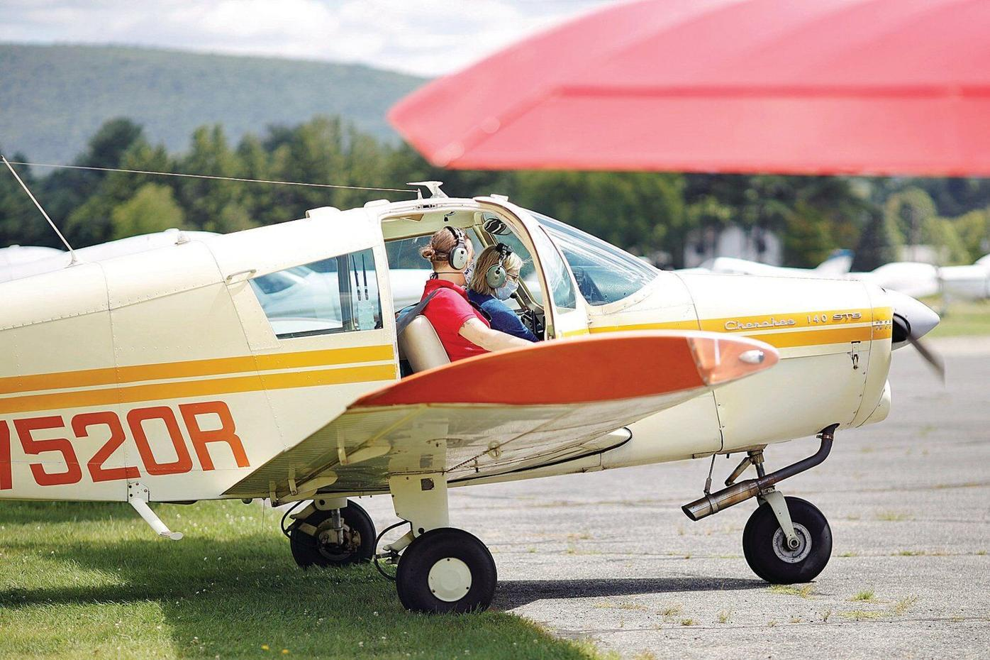 A day in the life of Great Barrington's airport, as storm cloud looms