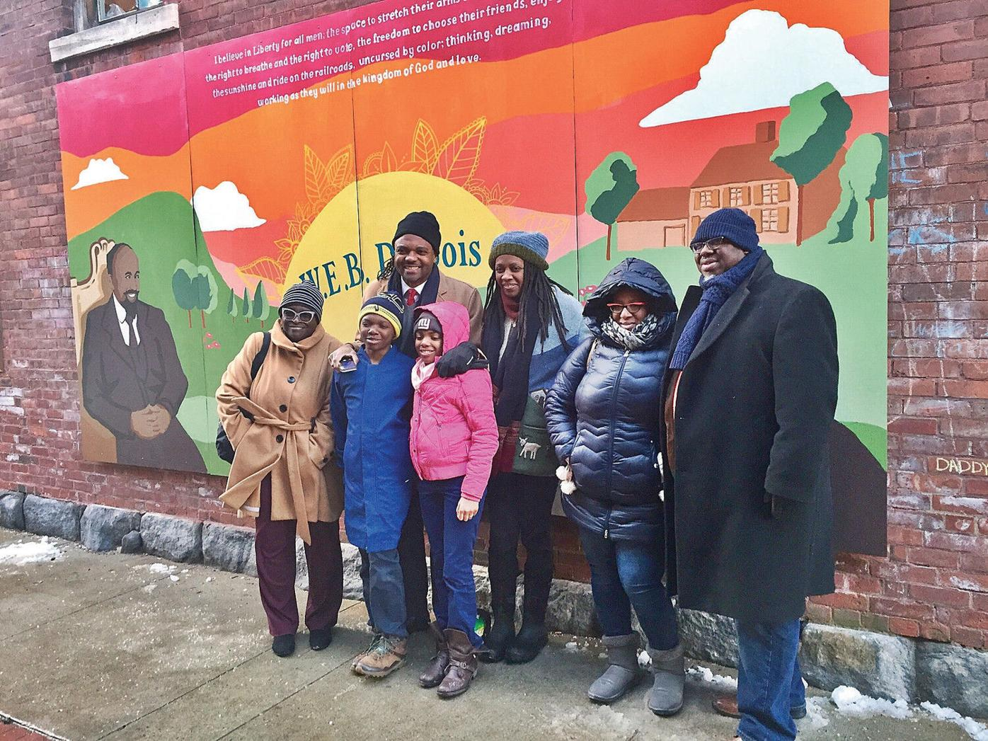 Art in honor: W.E.B. Du Bois mural goes up in Great Barrington