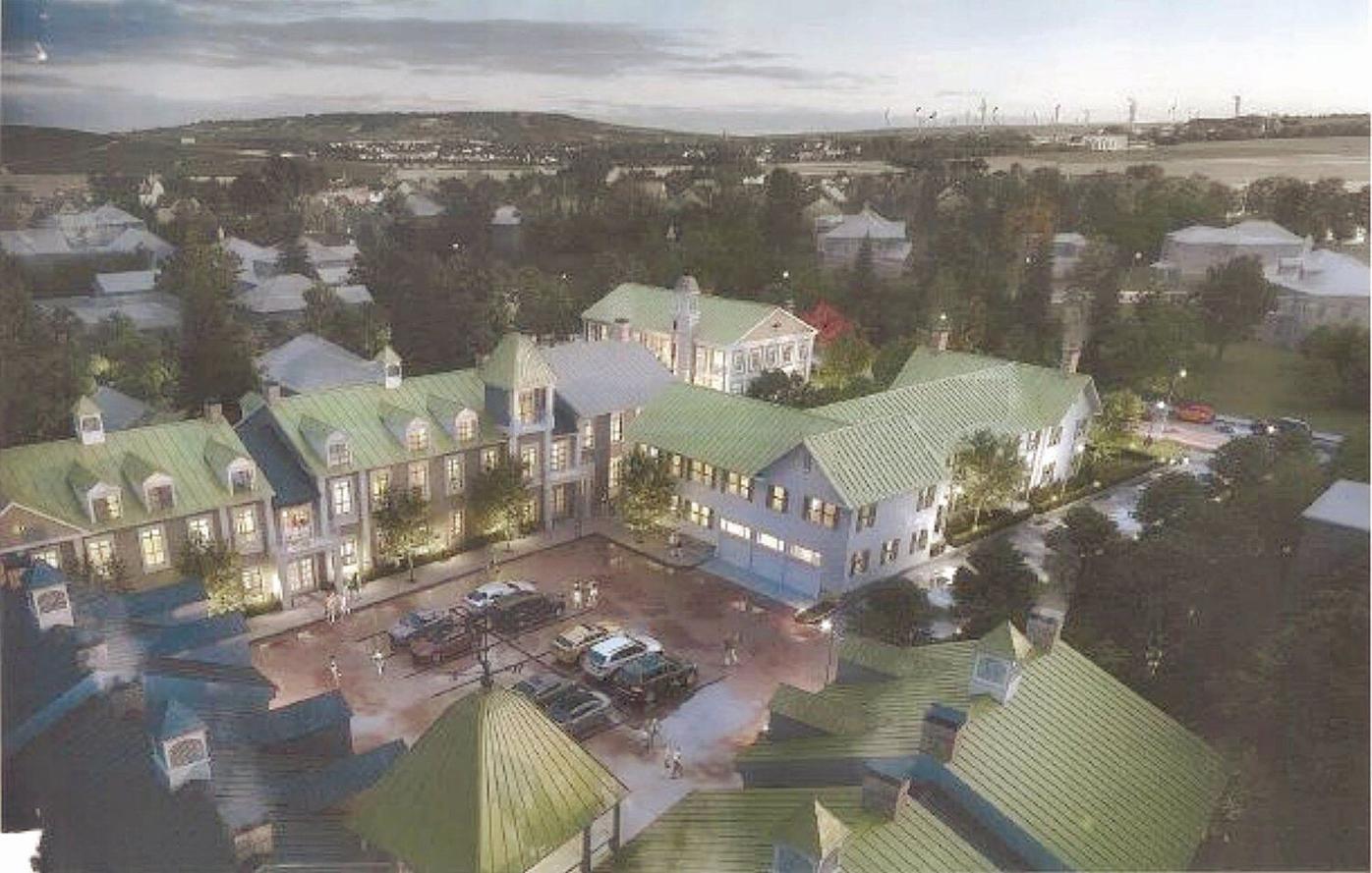 Renovation/construction project would transform portion of Lenox downtown village