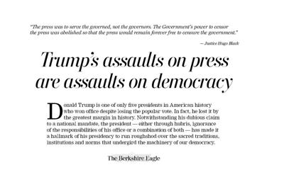 Our Opinion: Trump's assaults on press are assaults on democracy