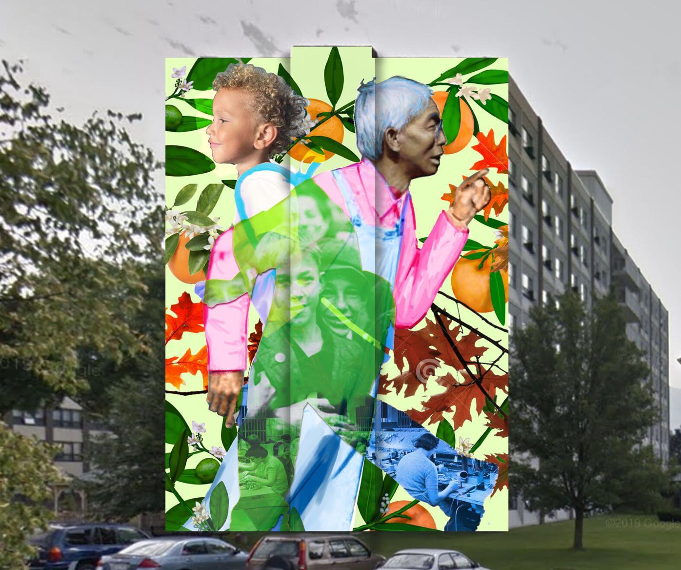 Ashland Street mural rendering