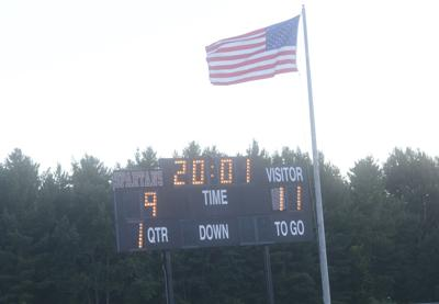 9/11 displayed on the scoreboard at Monument Mountain