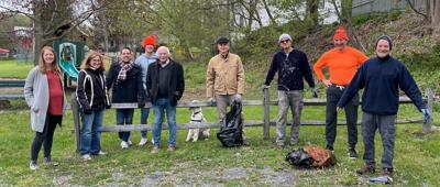 Volunteers clean up Hamlet Park