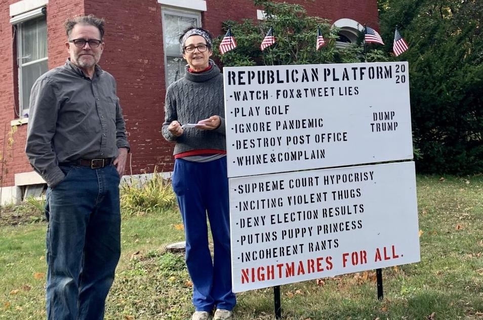 Otis residents troubled by vandalism to political signs