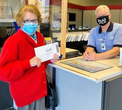 Theresa Dugan mails ballot in Pittsfield