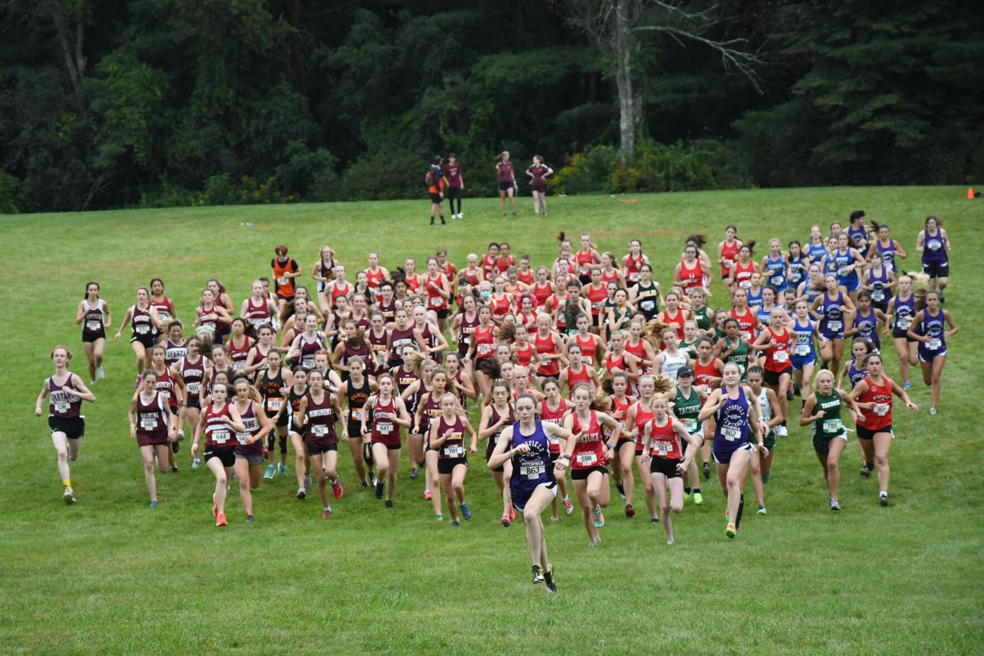 Start of the girls x-c race