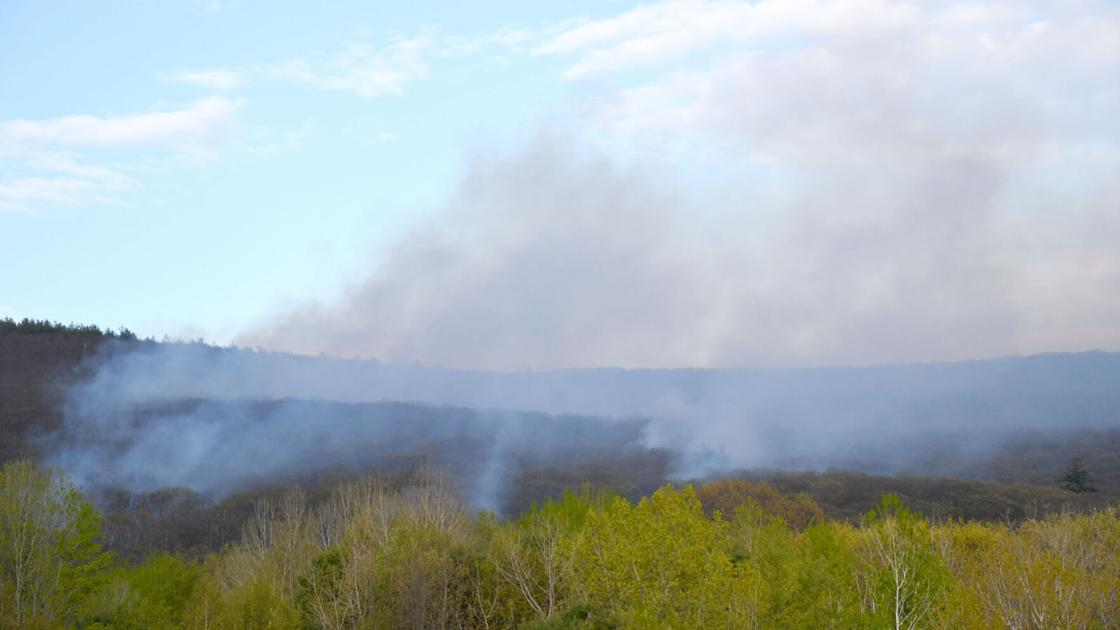 Brush fire in Williamstown draws in fire crews from throughout area