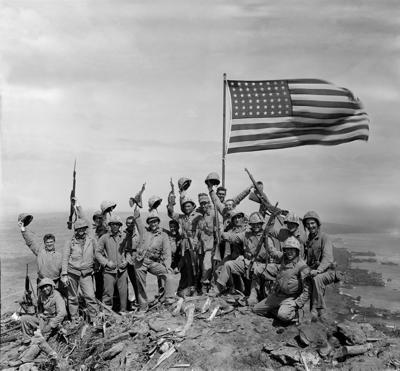 WWII U.S. MARINES FLAG IWO JIMA