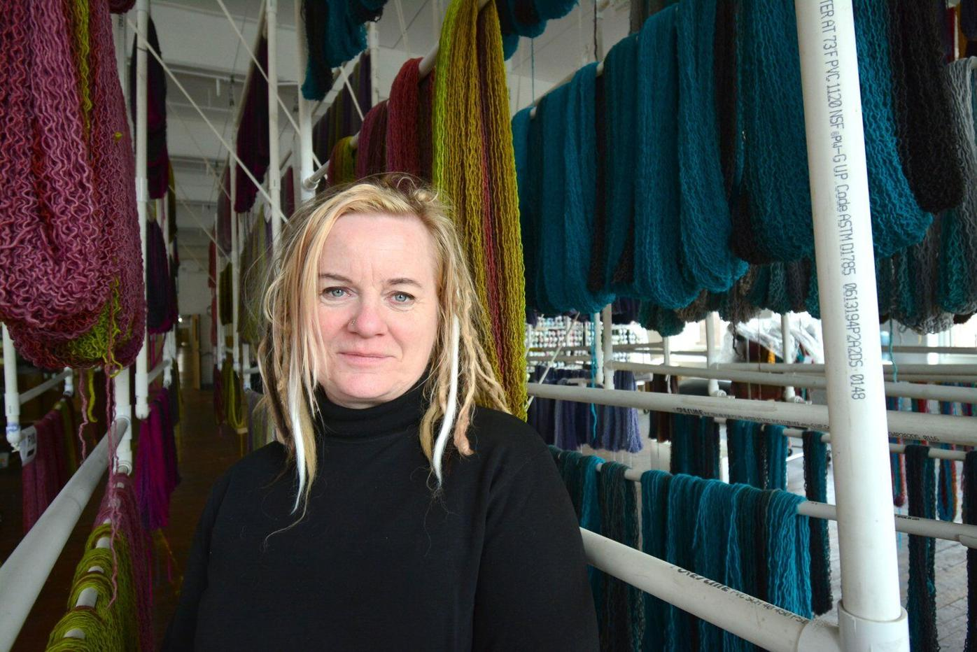 Not finding what she wanted to knit with, Tina Whitmore created it
