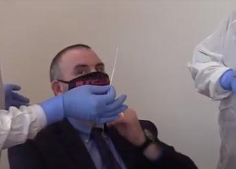 Mayor Bernard gets nasal swab COVID-19 test