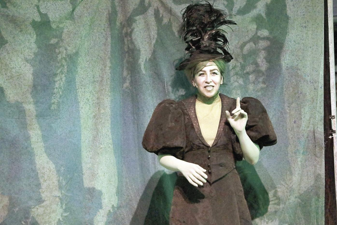 Woman in Wicked Witch Costume