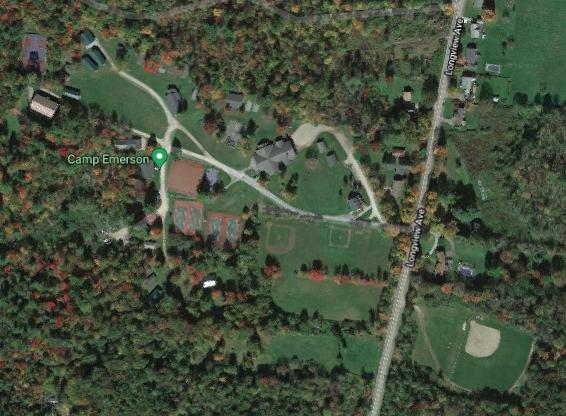 Satellite view Camp Emerson