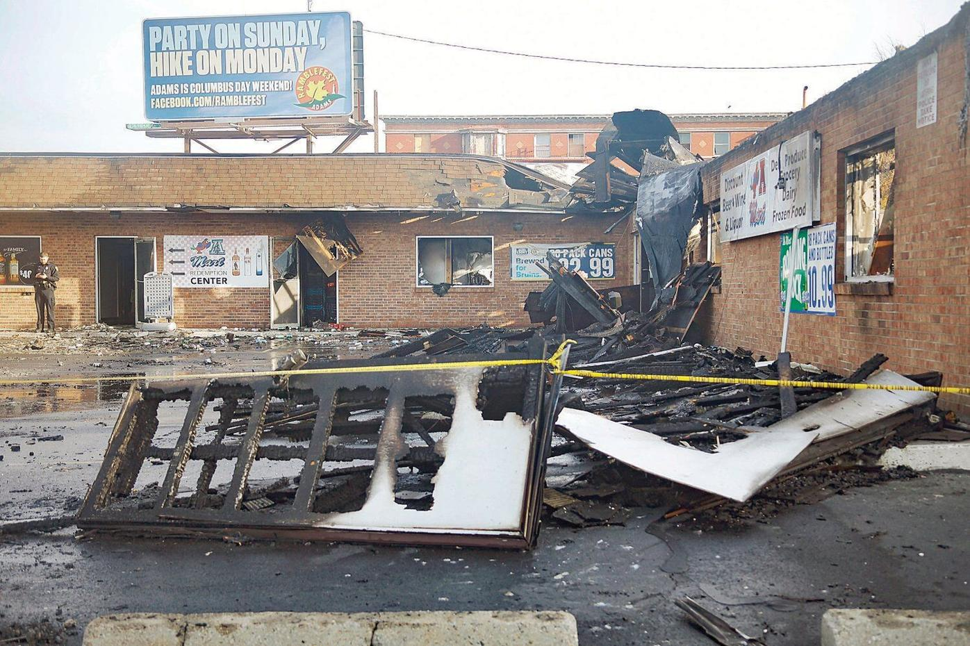 Police: Arson cause of A-Mart fire in Pittsfield; arrest made