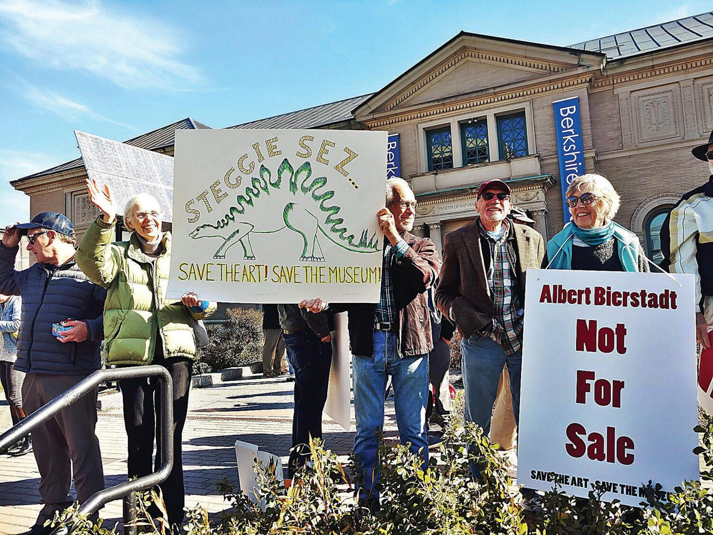 At protest, some in community stand behind Berkshire Museum's planned art sale
