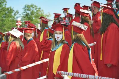 Hoosac Valley High School's Class of 2020 takes the field (copy)