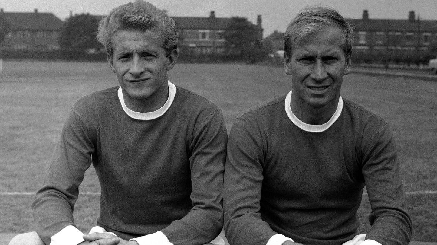 Soccer Bobby Charlton and Denis Law