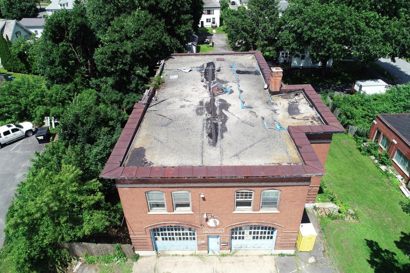 Aerial view of the Morningside Fire Station