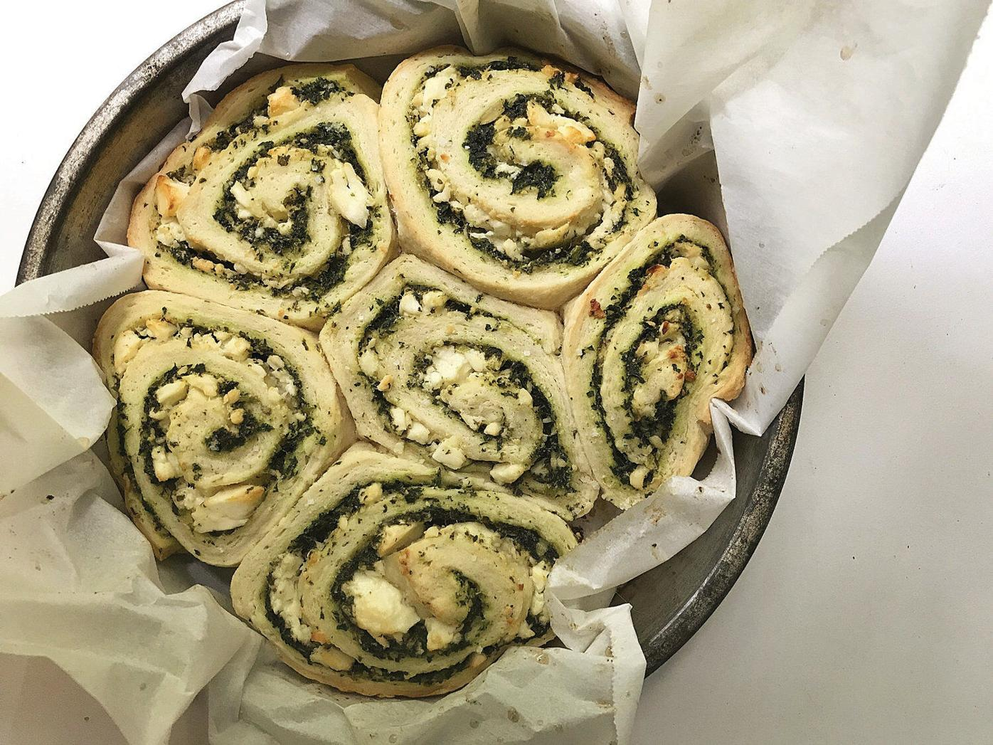 Spinach Feta Savory Rolls: Try making the latest trend - savory rolls
