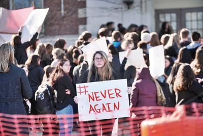 PHS, Taconic students walk out, speak minds in wake of Florida school shooting