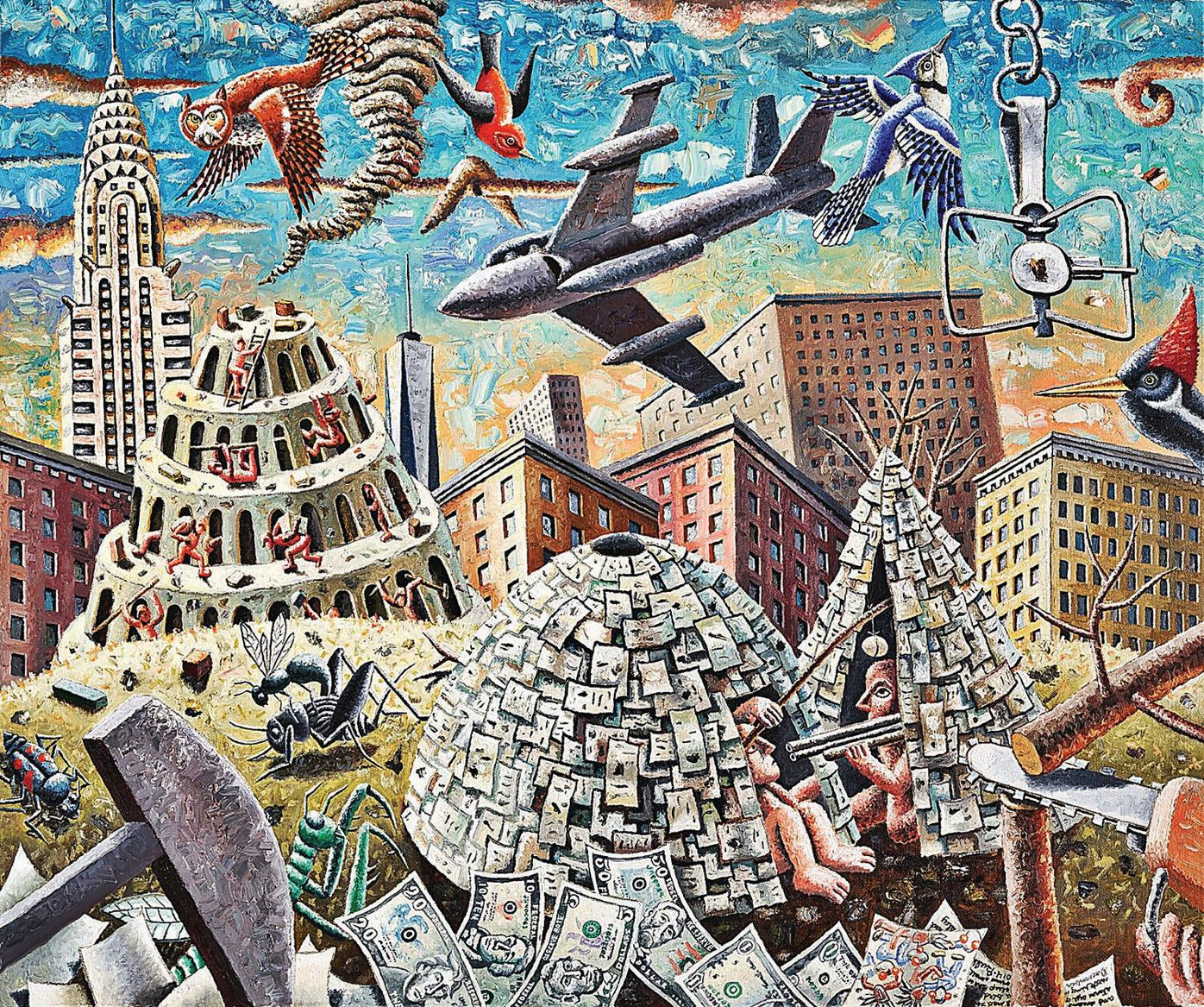 Artist Morgan Bulkeley searches for hope amid rubble of despair in exhibit at Berkshire Museum